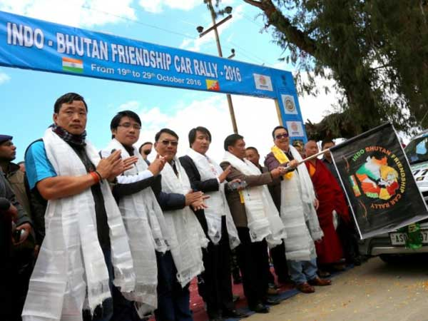 India-Bhutan Car Rally Flagged Off From Tawang