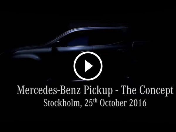 Mercedes-Benz Reveals Pickup Via A Teaser Video — Looks Insanely Sportier