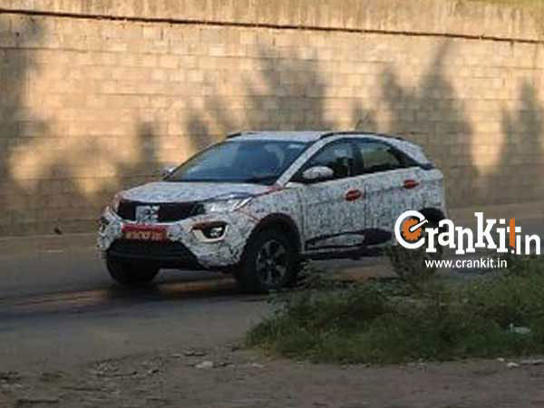 Tata Nexon Spied Testing With Berry Red Body Colour