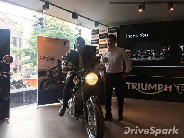 Triumph Bonneville T100 Rumbles Into Bangalore; Priced At Rs. 7.96 Lakh