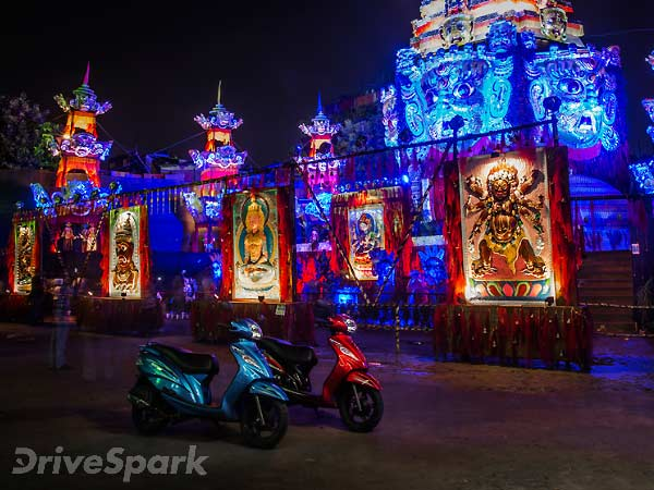 Day-Night Transition With TVS #Wego On #DurgaPuja In Kolkata — Part 2