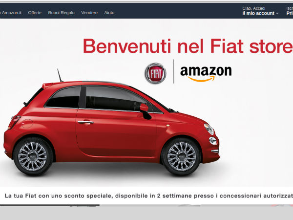Online Car Sales >> Fiat Teams Up With Amazon To Sell Cars Online Drivespark News