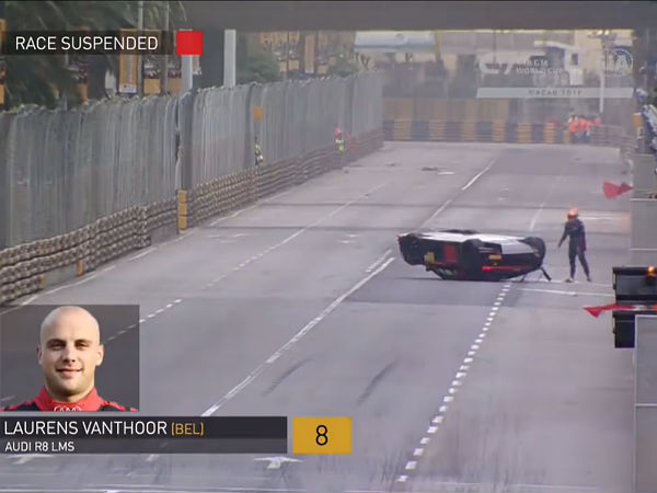 Audi R8 Flips At Macau GP, But Wins The Race