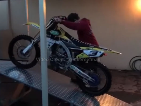 Man Builds Washing Machine For Dirt Bikes