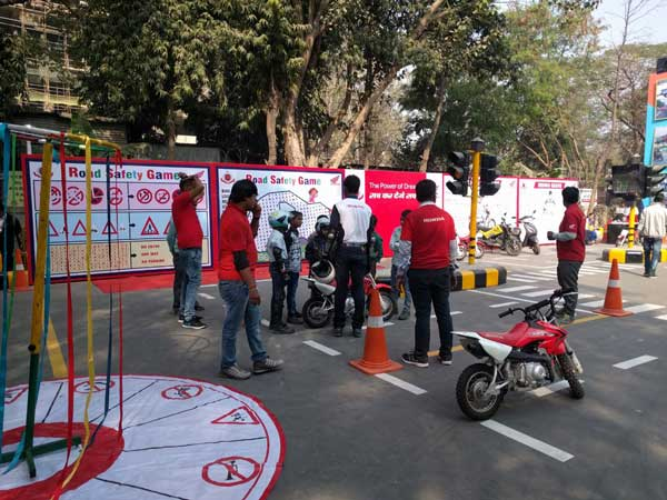 Honda Road Safety Programme Conducted At Indian International Trade Fair