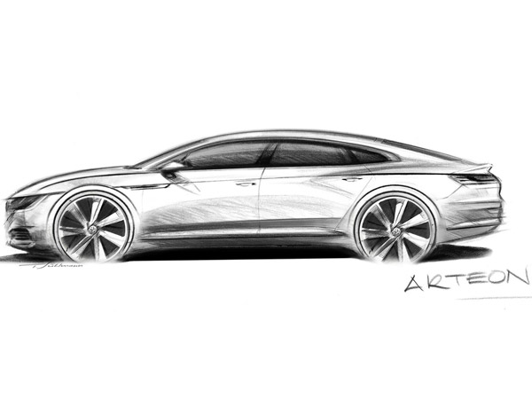 Volkswagen Reveals Arteon Premium Saloon Prior To 2017 Launch