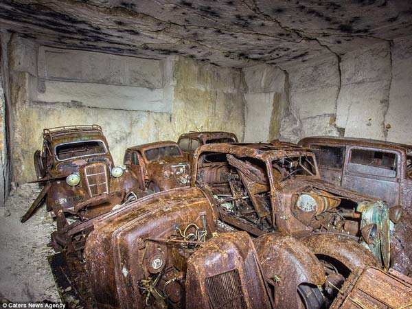 Cars Hidden From Hitler Found In A Quarry In France