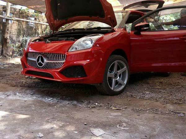 Maruti Baleno Converted Into A Mercedes A-Class Is Possibly The Worst Car Mod Ever