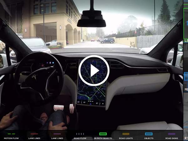 Tesla Releases Video Demonstrating What Self Driving Cars