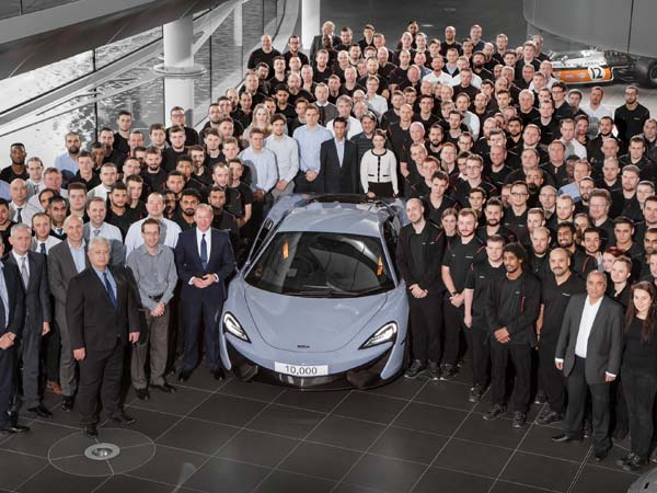 Mclaren Achieves 10,000th Car Milestone In Just 5 Years