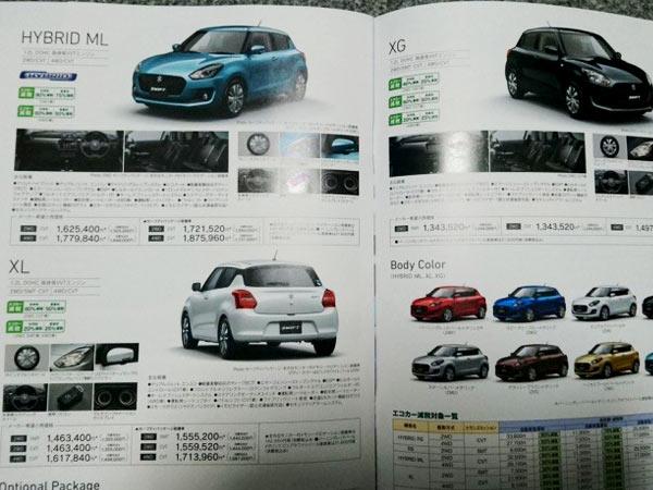 2017 Maruti Suzuki Swift Japan Spec Brochure Leaked - DriveSpark News
