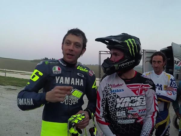 Watch Valentino Rossi And Brad Baker Battle It Out On Rossi's MotoRanch