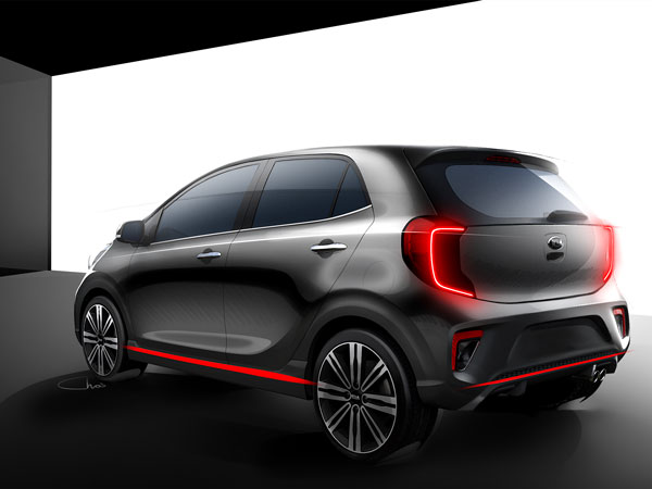 Kia Motors Officially Releases First Sketches Of The 2017 Picanto