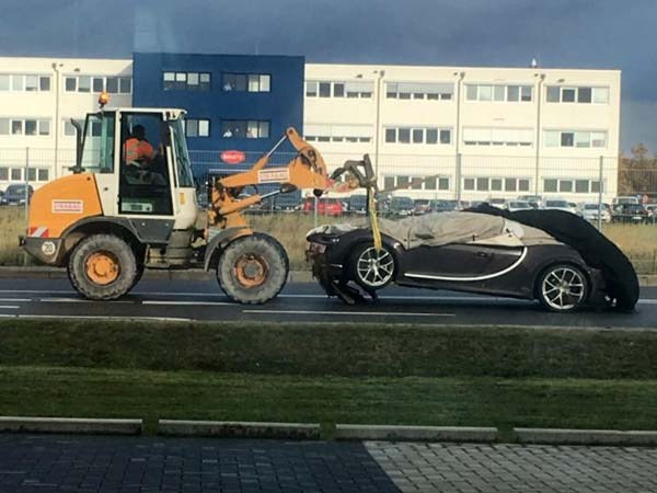 World's Fastest Car Gets Ditched — $2.5 Million Bugatti Chiron Involved In A Crash