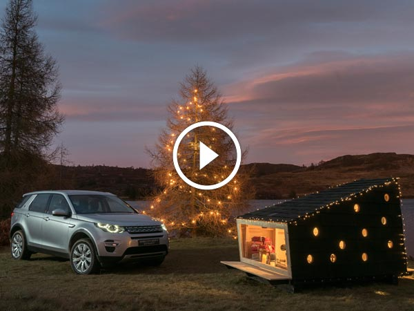 Video: Land Rover Builds A Cozy Christmas Cabin That Fits Inside The Discovery Sport