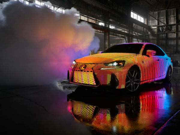 Meet The New Lexus LIT IS Covered In 41,999 LEDs