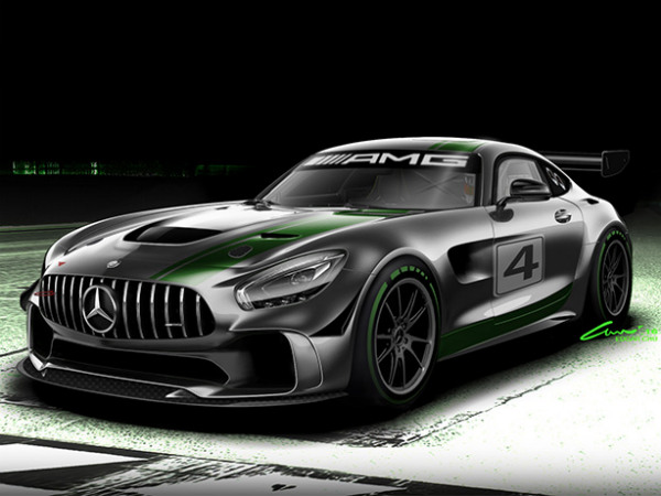 Mercedes-AMG's New GT4 Car Is Exactly What A Racecar Should Look Like