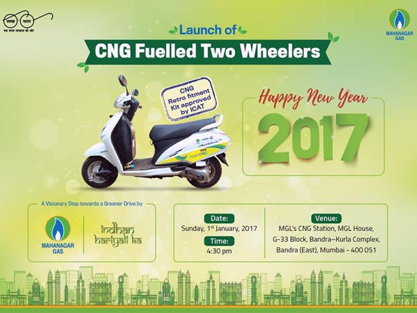 MGL & M/s Eco Fuel Launch CNG Powered Two-Wheelers For