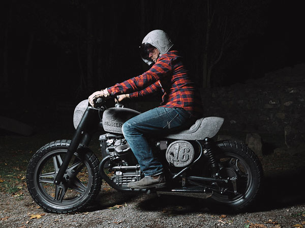 This Honda CX500 Is A Heavy Duty Motorcycle With Stone Bodywork