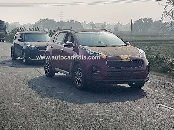 Kia Sportage SUV And Soul Crossover Spotted Testing In India
