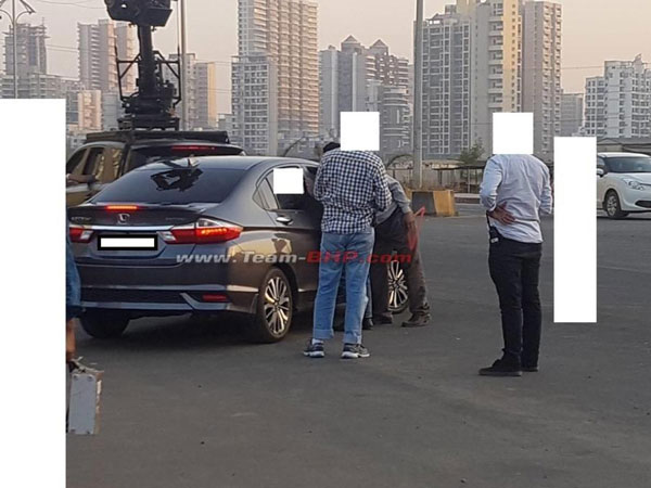 India-Bound 2017 Honda City Facelift Spied During Ad Shoot