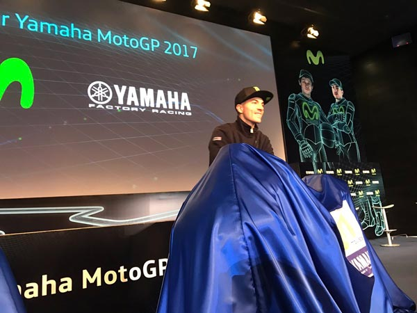 Valentino Rossi And Maverick Vinales Unveils 2017 Movistar Yamaha Racer