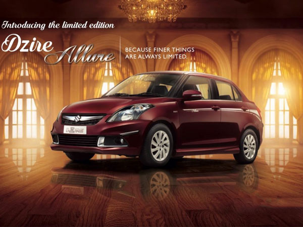 Maruti Suzuki Launches The Limited Edition Swift Dzire Allure In India
