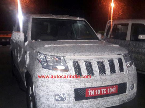 Spy Pics: Mahindra TUV 500 (TUV Long Wheelbase) Spotted Testing; Engine Revealed