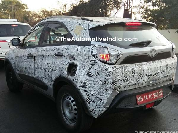 Spy Pics: Tata Nexon Spotted Testing; Interiors Reveal New Feature