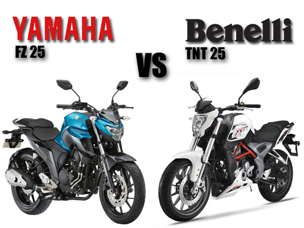 Tnt Auto Sales >> Yamaha FZ 25 vs Benelli TNT 25 Comparison - DriveSpark