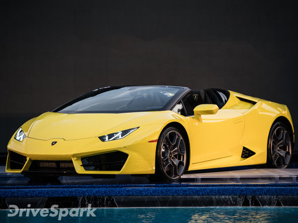 lamborghini huracan rwd spyder launched in india priced at rs crore drivespark news. Black Bedroom Furniture Sets. Home Design Ideas