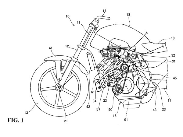 Honda Supercharged Motorcycle Engine Patent Images Leaked