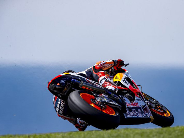 Reigning MotoGP world champion Marc Marquez set the fastest time on the opening day of the second official MotoGP test of 2017.