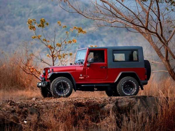 Mahindra Thar Disguised As A Jeep Wrangler Drivespark News