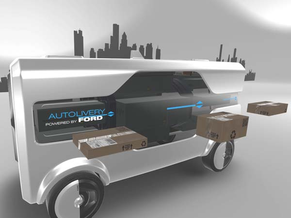 Ford 'Autolivery' concept: an autonomous van with a delivery drone