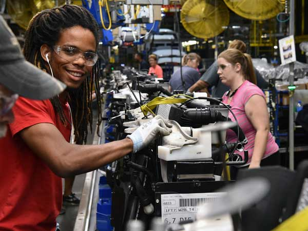 ford recruiting and training Rockefeller foundation, open society foundations, and ford foundation  announce efforts to help puerto rico rebound  metal shop foreman john  training a young woman in his trade  a job seeker holds a we're hiring card  at a city of.