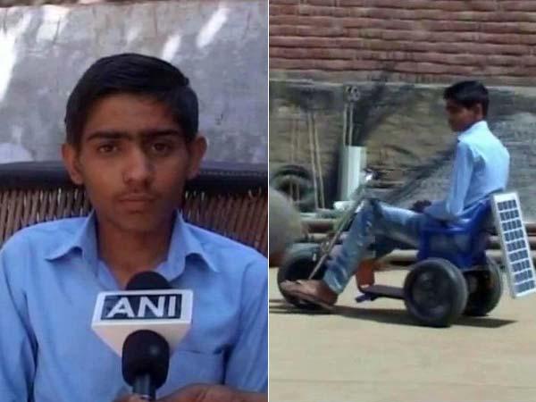 13-Year Old Boy Designs A Bike That Runs On Solar Energy