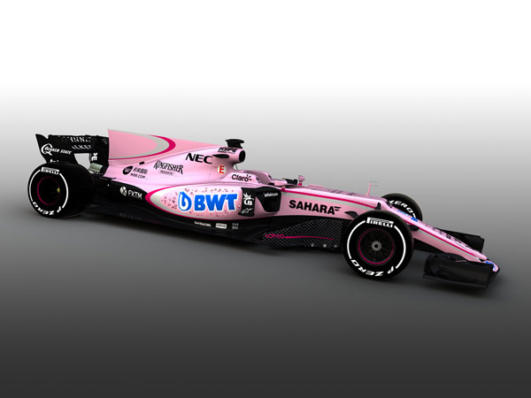 Force India Reveals New Pink Livery For 2017 Season