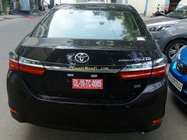 Toyota Corolla Altis Facelift Spotted Ahead Of Its Launch