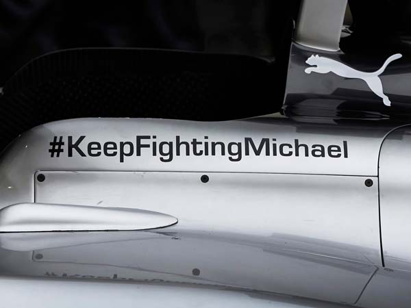 Mercedes Removes Michael Schumacher Message From 2017 Formula One Car