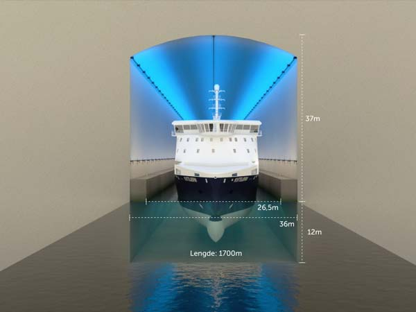 Norway Looking To Build World's First Ship Tunnel