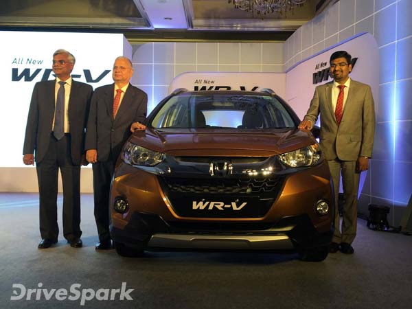 Honda WR-V Launched In Bangalore; Prices Start At Rs 7.90 Lakh