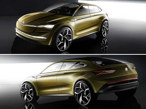 skoda vision e concept revealed ahead of shanghai motor show debut drivespark news. Black Bedroom Furniture Sets. Home Design Ideas