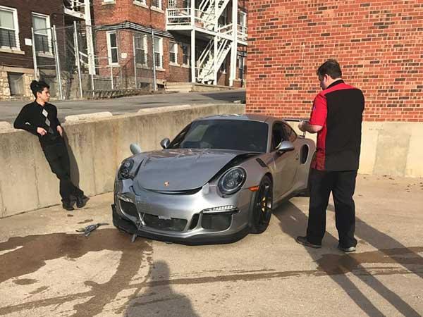 joy riding tuner crashes customer 39 s porsche 911 gt3 rs worst customer service ever. Black Bedroom Furniture Sets. Home Design Ideas