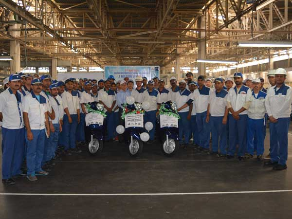 Suzuki Motorcycles India Rolls Out Its Third Millionth Vehicle