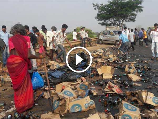 Truck Crash Proves That The Beer Industry Is Still Strong Despite Vijay Mallya's Arrest