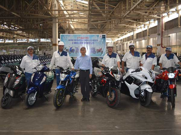 Suzuki Motorcycles India Achieves A Significant Production Milestone