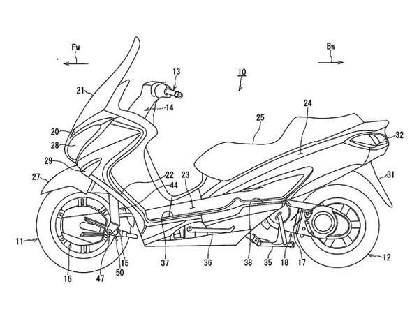 A Two-Wheel-Drive Suzuki Burgman? Suzuki Files Patents For A Two-Wheel-Drive Scooter!