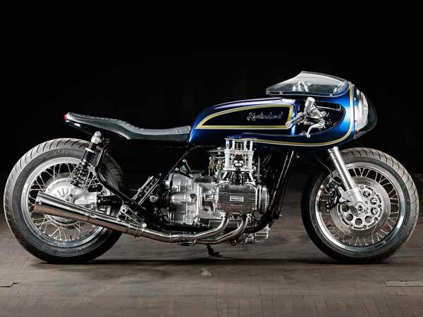 The Krakenhead Blueberry Bomber Is A Custom Honda Goldwing Cafe Racer