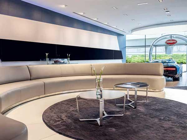World S Largest Bugatti Showroom Opens In Dubai Drivespark News